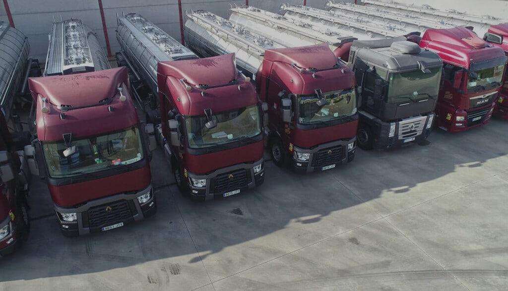 Transporte de cisterna alimentaria